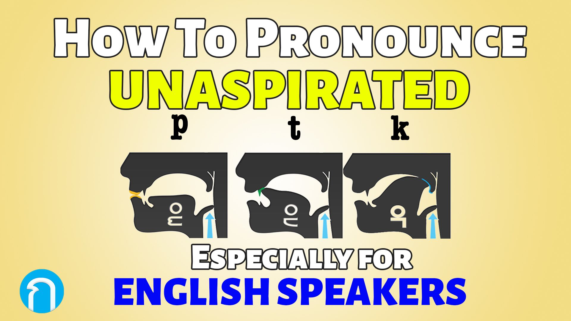 How to Pronounce Unaspirated 'p', 't' and 'k' Correctly - Particularly for English Speakers