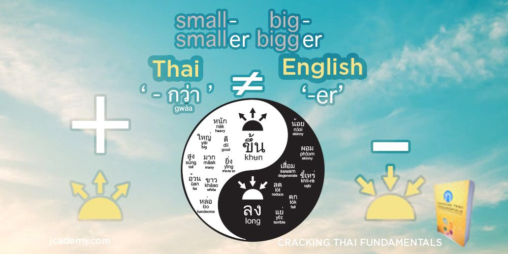 'Gwà' กว่า is NOT the Same as '-er' in English - Black and White Words